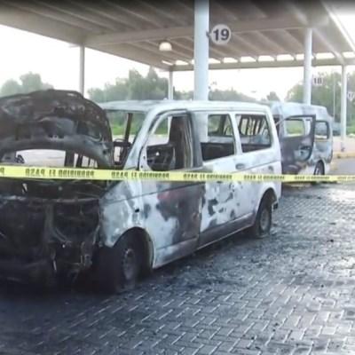 Presuntos integrantes del CJNG incendian combis en Tecámac; extorsionadores piden hasta 150 mil pesos