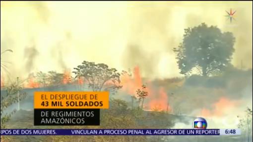 Tres semanas de incendios en selva amazónica