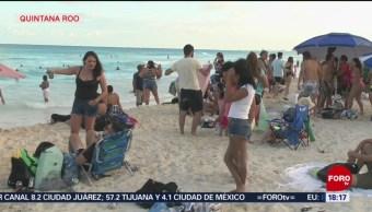 FOTO: Turistas disfrutan últimos días de vacaciones en Quintana Roo, 18 Agosto 2019