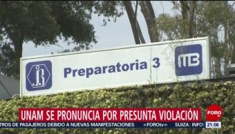 Foto: Unam Se Pronuncia Presunta Violación Prepa 3 13 Agosto 2019