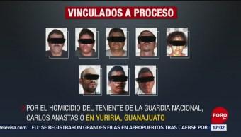 FOTO: Vinculan a ocho a proceso por asesinato de teniente de la Guardia Nacional, 18 Agosto 2019