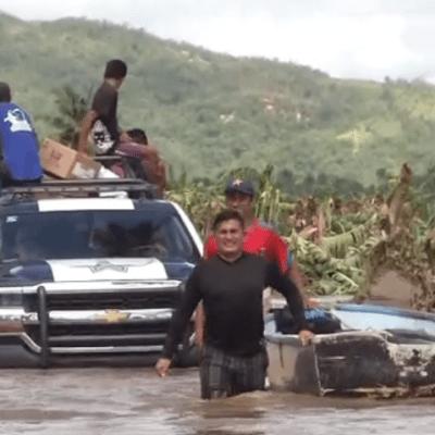 Daños en El Rebalse tras paso 'Lorena' en Jalisco
