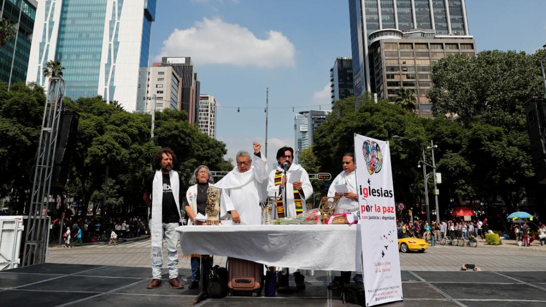 misa angel independencia marcha ayotzinapa