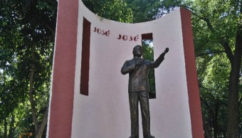 Foto: Monumento a José José en la colonia Clavería en Azcapotzalco, 27 de septiembre de 2019 (Alcaldía Azcapotzalco)