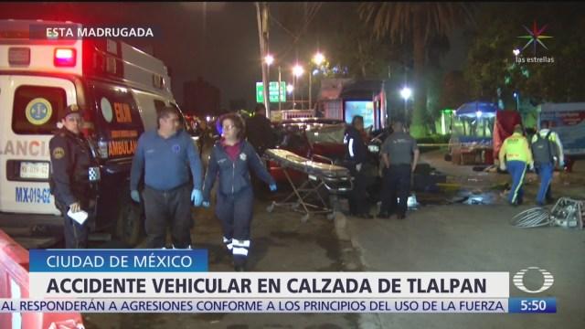 Accidente vehicular en Xalzada de Tlalpan deja dos muertos