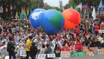 Foto: Activistas protestas contra el cambio climático en Corea del Sur, 21 de septiembre de 2019