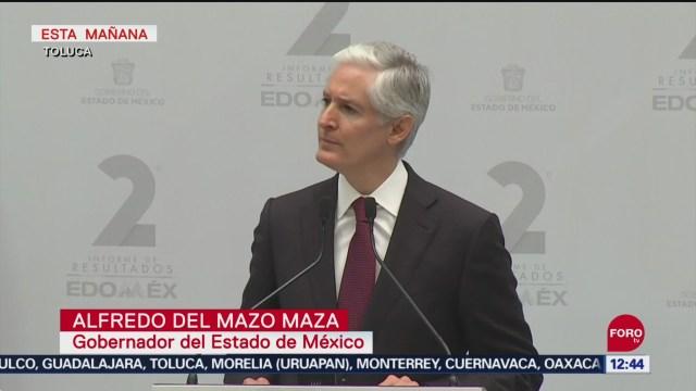 Alfredo del Mazo presenta su segundo informe de Gobierno