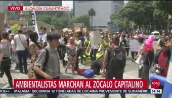 FOTO: Ambientalistas Marchan Zócalo Ciudad México