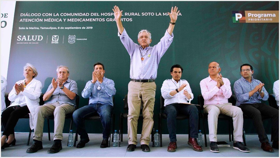 Foto: AMLO dice carajo con la delincuencia durante evento en Tamaulipas, 8 de septiembre de 2019. (PRESIDENCIA /CUARTOSCURO.COM)