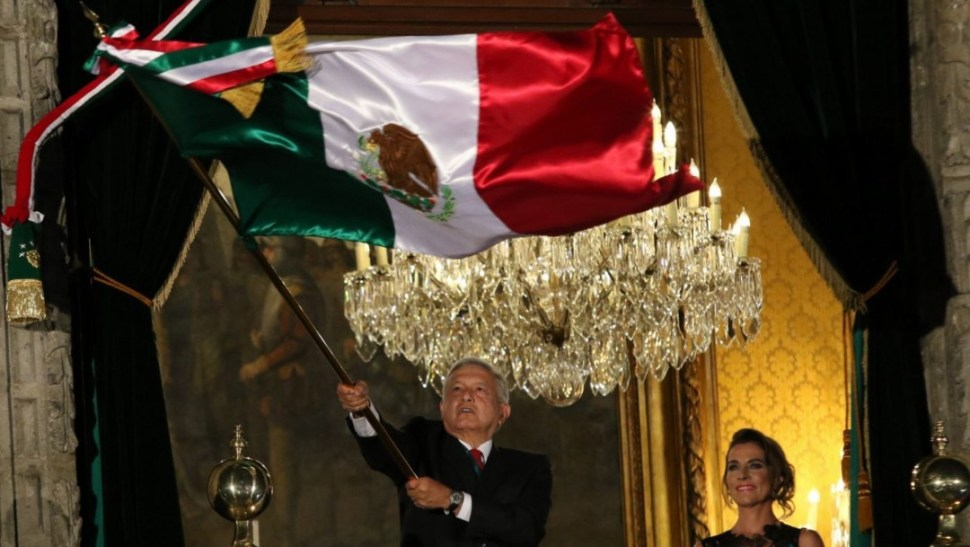 "Foto: Andrés Manuel López Obrador, presidente de México, encabezó ""El Grito"" de Independencia, el 15 de septiembre de 2019 (Reuters)"