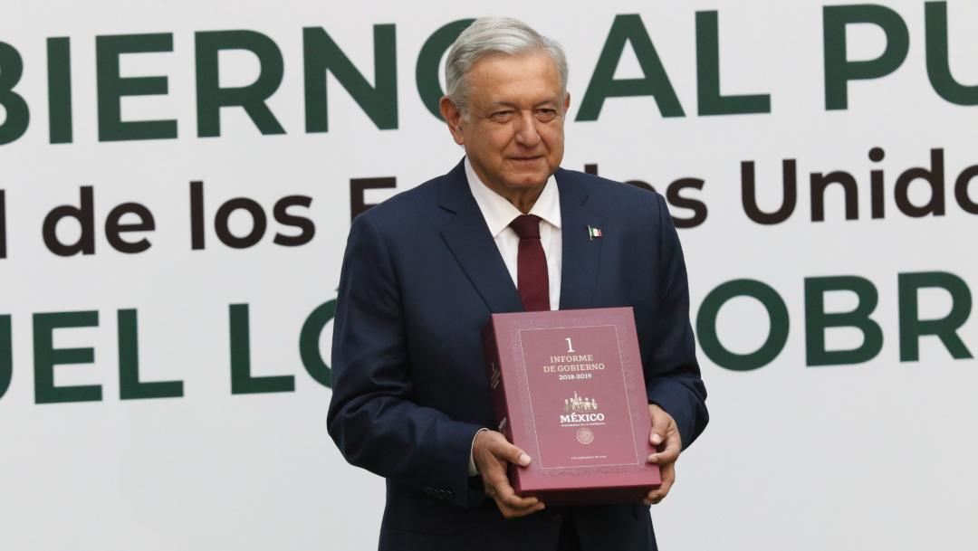 Foto: Andrés Manuel López Obrador, presidente de México, en su mensaje con motivo de su Primer Informe de Gobierno, el 1 de septiembre de 2019 (Moisés Pablo/Cuartoscuro.com)