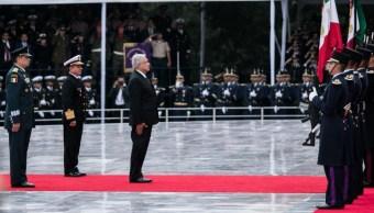 Foto: Andrés Manuel López Obrador, presidente de México, durante la ceremonia con motivo del aniversario 172 de la Gesta Heroica de los Niños Héroes, el 13 de septiembre de 2019 (Galo Cañas /Cuartoscuro.com)