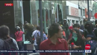 FOTO: Anarquistas Causan Disturbios Avenida Juárez Durante Marcha 43