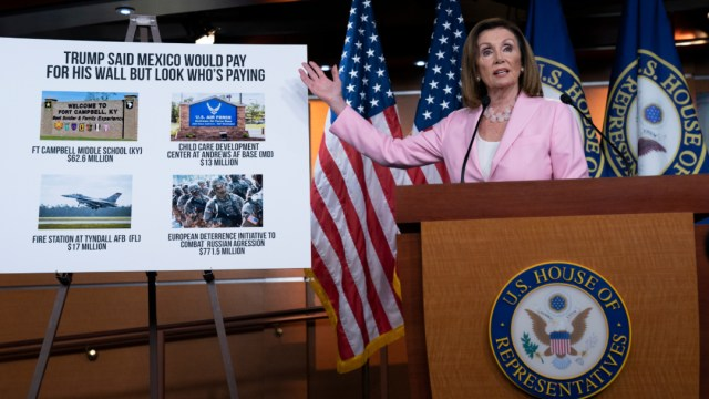 Foto: Nancy Pelosi, líder de la Cámara de Representantes y opositora a Trump, 12 de septiembre de 2019 (AP)