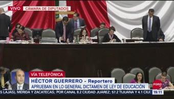 Foto: Aprueban General Dictamen Ley Educación 19 Septiembre 2019
