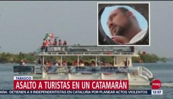 Asaltan a turistas dentro de barco, en Tabasco