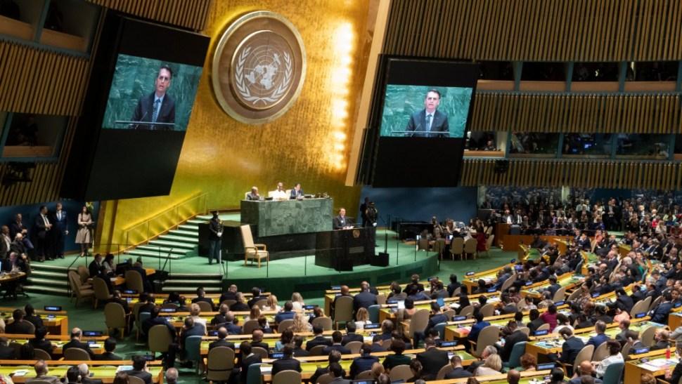 Foto: Bolsonaro en Asamblea de la ONU, 24 de septiembre de 2019, Nueva York