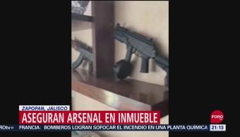 Foto: Aseguran Arsenal Cjng Jalisco 27 Septiembre 2019
