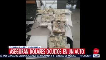 Aseguran más de 650 mil dólares en efectivo en Ciudad Juárez