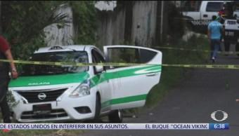 Asesinan a 2 mujeres que iban en taxi, en Veracruz