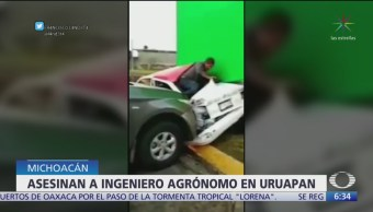 Asesinan a ingeniero en Michoacán