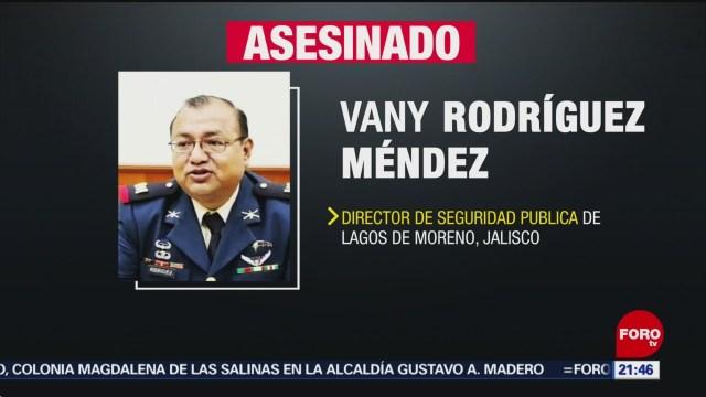 FOTO: Asesinan al director de la Policía de Lagos de Moreno, Jalisco, 7 septiembre 2019