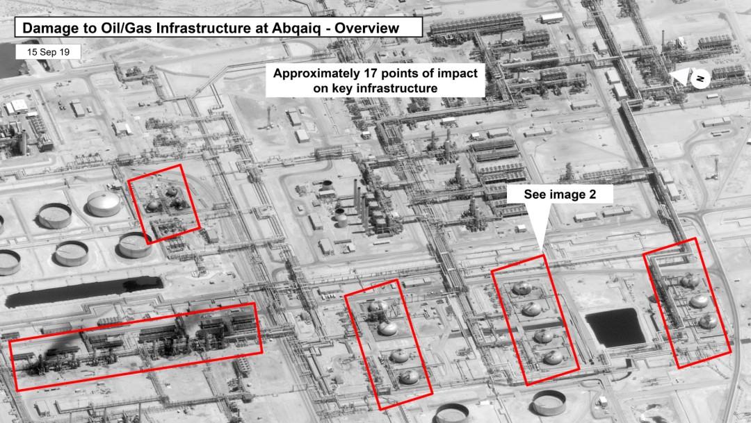 Foto: Ataque contra instalaciones petroleras sauditas, 15 de septiembre de 2019, Arabia Saudita