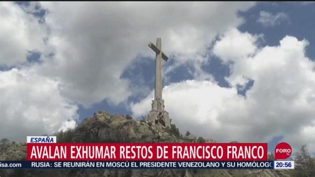 Foto: Avalan Exhumación Restos General Francisco Franco