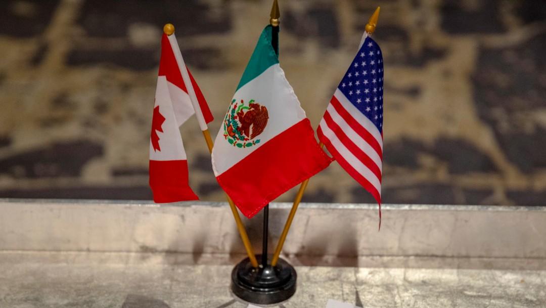 Foto: Banderas de México, EU y Canadá, 21 de febrero de 2019