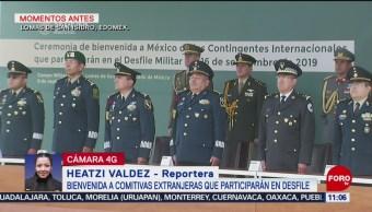 Bienvenida a comitivas extranjeras que participarán en Desfile Militar