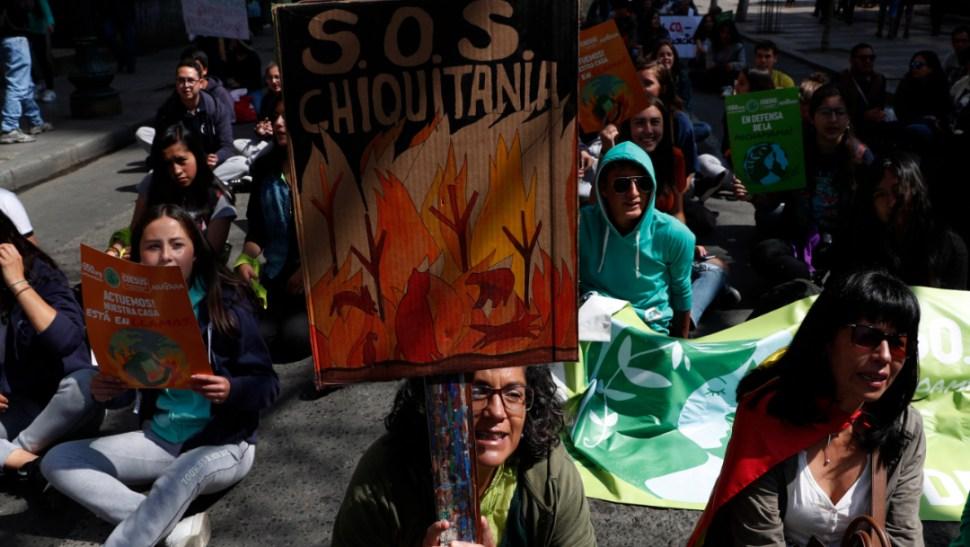 Se registraron marchas contra el cambio climático en Bolivia, 20 septiembre 2019