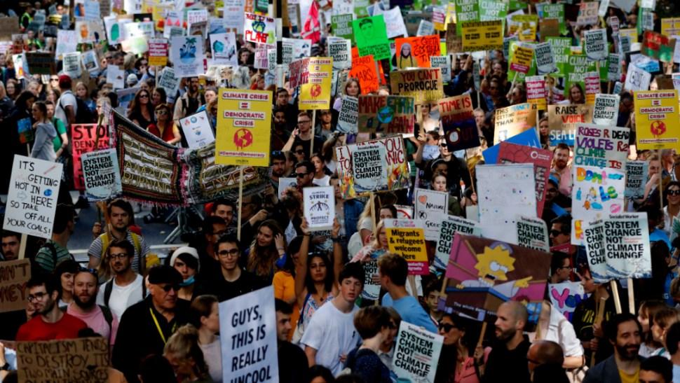 Foto: Se registraron marchas contra el cambio climático en Reino Unido, 20 septiembre 2019