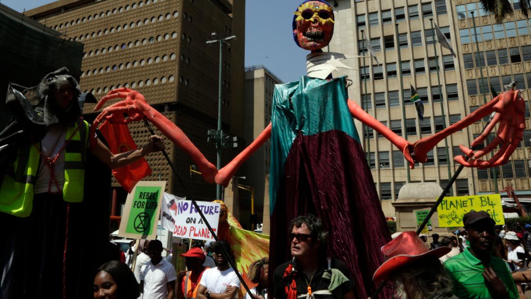 Foto: Se registraron marchas contra el cambio climático en Ciudad del Cabo, Sudáfrica, 20 septiembre 2019