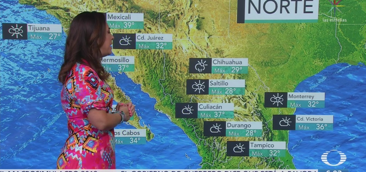 Canales de baja presión provocarán lluvias en México