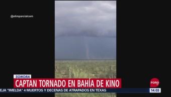 Captan en video la formación de tornado en Sonora