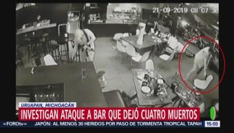 FOTO: Captan Momento Ataque Bar Uruapan