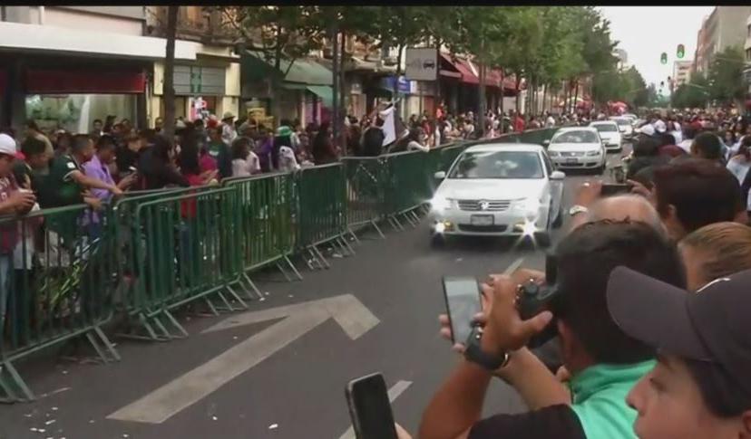 Foto Policías pusieron vallas para su paso, 15 de septiembre de 2019 (FOROtv)