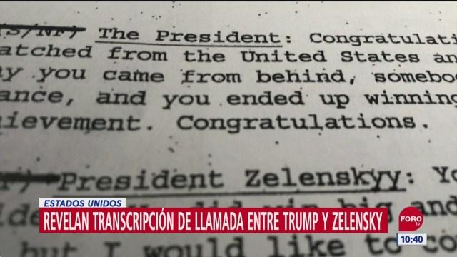 Casa Blanca revela conversación entre Trump y Zelensky