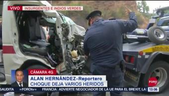 FOTO: Choque Combi Deja Varios Heridos Insurgentes Norte CDMX