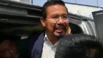 Cipriano Charrez, diputado desaforado fue detenido por elemento de la policía investigadora de la Procuraduría de Justicia de Hidalgo, 21 septiembre 2019