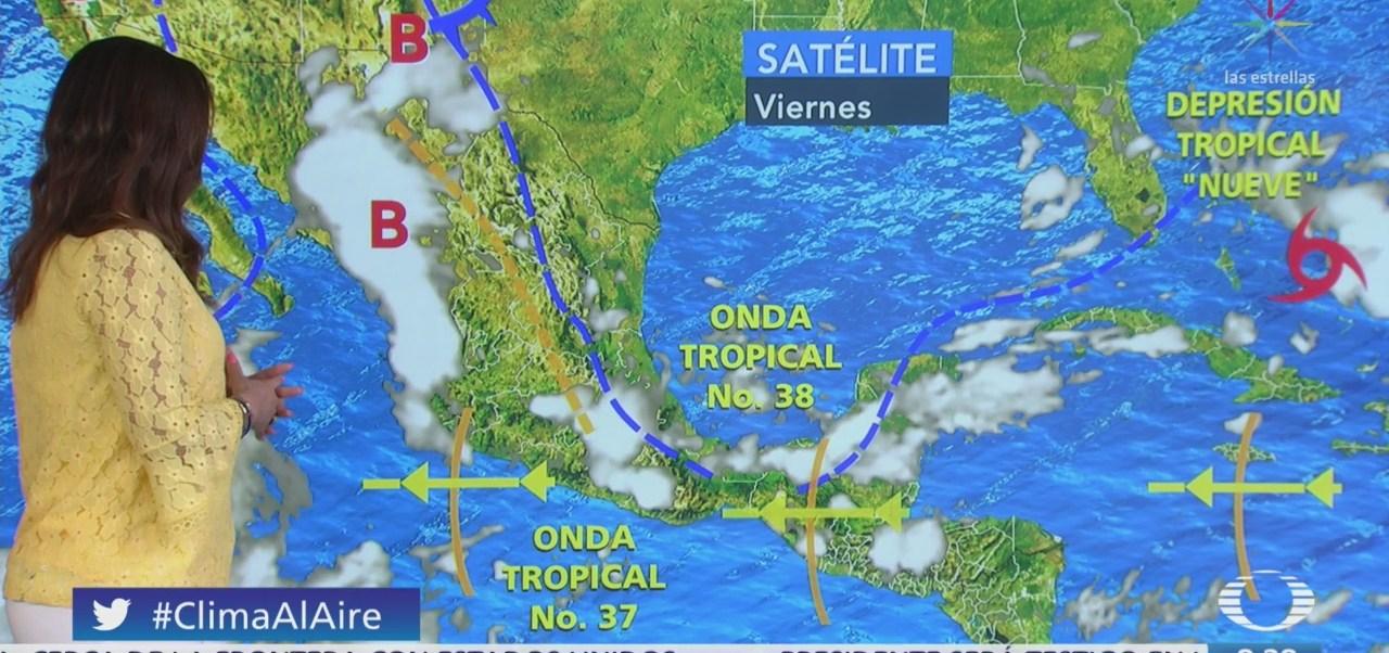 Clima Al Aire: Depresión tropical 'Nueve' cerca de Las Bahamas