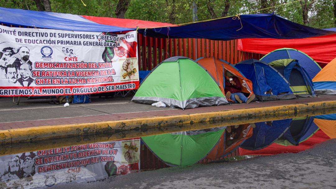 FOTO CNTE bloquea accesos a Cámara de Diputados (Mario Jasso/Cuartoscuro)