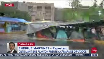 FOTO:CNTE Mantiene Plantón Cámara Diputados