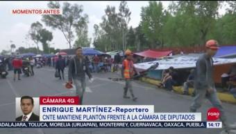 FOTO: CNTE Mantiene Plantón Frente Cámara Diputados