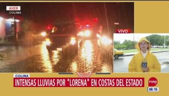 Colima registra lluvias intensas por el huracán 'Lorena'