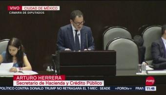 Comparece secretario de Hacienda por informe y paquete económico