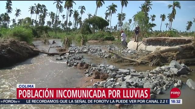 Foto: Comunidad El Centinela Incomunicada Fuertes Lluvias Colima 24 Septiembre 2019