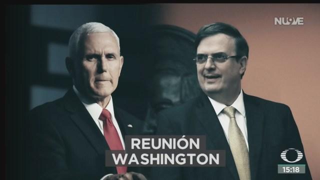 FOTO: Concluye Reunión Entre Marcelo Ebrard Mike Pence