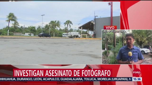 FOTO: Continúan investigaciones por asesinato de fotógrafo en Acapulco, 14 septiembre 2019