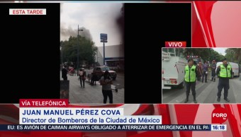 Foto: Controlado incendio plaza comercial Polanco CDMX